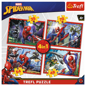 Puzzle Spiderman, 4 u 1